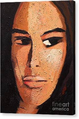 Beautiful Woman Canvas Print by Lutz Baar