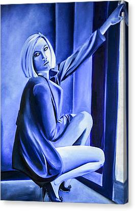 Beauty In Blue  Canvas Print by Chris  Leon