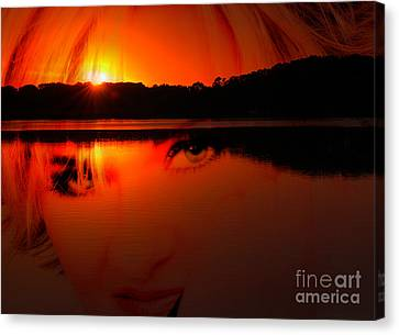 Canvas Print featuring the photograph Beauty Looks Back by Clayton Bruster