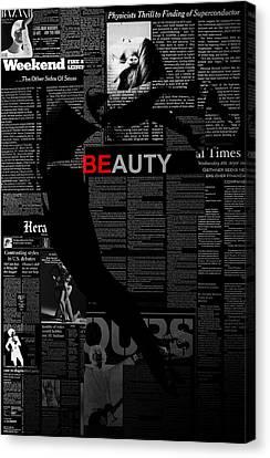 Beauty Canvas Print by Naxart Studio
