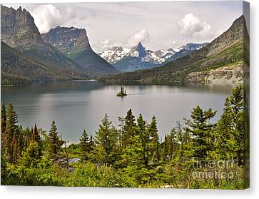Canvas Print featuring the photograph Beauty Of St. Mary's Lake by Johanne Peale