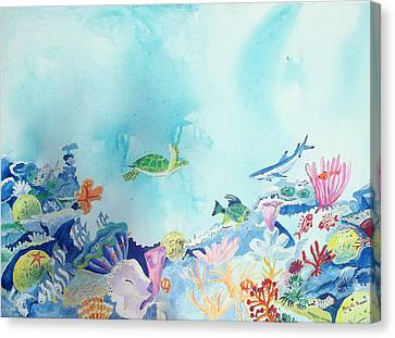 Beauty Under The Ocean Canvas Print by Renate Pampel
