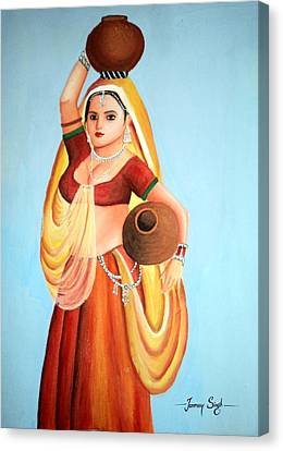 Beauty With Simplicity Canvas Print by Tanmay Singh