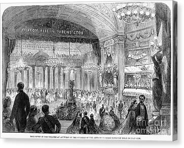 Beaux Arts Ball, 1861 Canvas Print by Granger