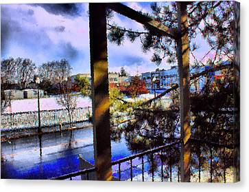 Canvas Print featuring the mixed media Beaverton  H.s. Winter 2011 by Terence Morrissey