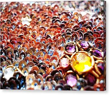Bed Of Sequins Canvas Print by Sumit Mehndiratta