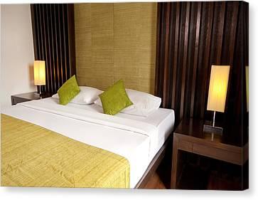 Bed Room Canvas Print by Atiketta Sangasaeng