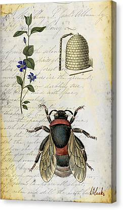 Bee Flower Hive  Canvas Print