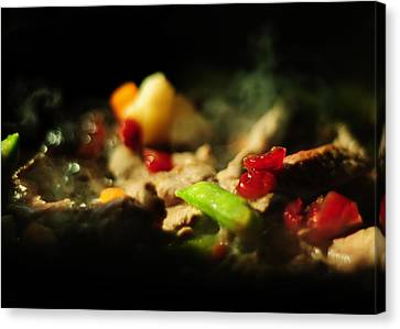Beef With Vegetables Canvas Print by Rebecca Sherman