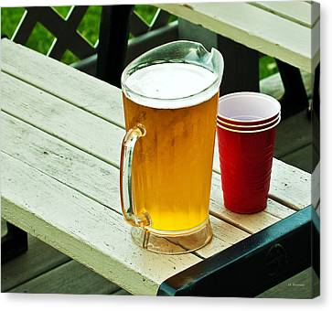 Beer 30 Now Canvas Print by Edward Peterson