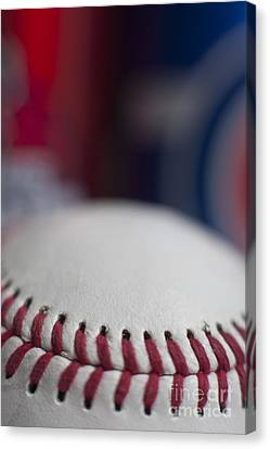 Beer And Baseball Canvas Print by Alan Look