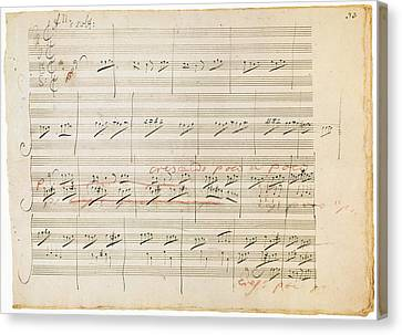 Beethoven Manuscript, 1806 Canvas Print by Granger