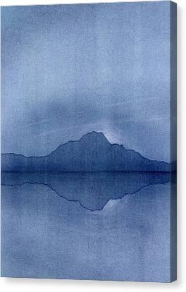 Before The Moonrise Canvas Print by Hakon Soreide