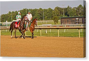 Before The Race Canvas Print by Betsy Knapp
