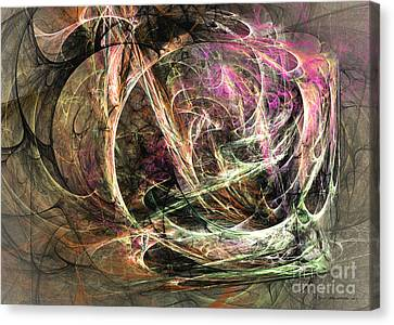 Before The Seizure - Abstract Art Canvas Print by Abstract art prints by Sipo