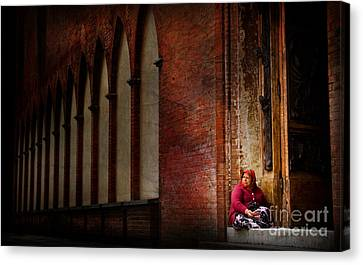Begging For Forgiveness Canvas Print
