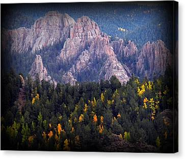Canvas Print featuring the photograph Beginning Of Mountain Fall by Michelle Frizzell-Thompson