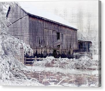 Behind The Barn Canvas Print by Kathy Jennings