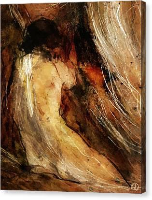 Warm Canvas Print - Behind The Curtain by Gun Legler