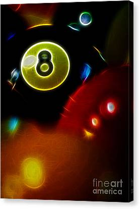 Behind The Eight Ball - Vertical Cut - Electric Art Canvas Print by Wingsdomain Art and Photography