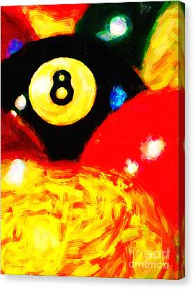 Behind The Eight Ball - Vertical Cut Canvas Print by Wingsdomain Art and Photography