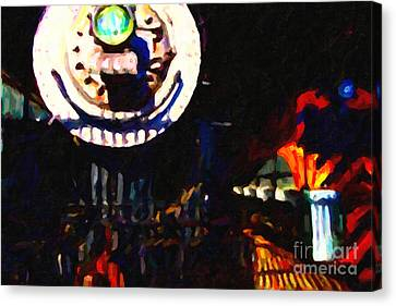 Behind The Gates At The Old Locomotive House . Painterly . Vision 2 Canvas Print by Wingsdomain Art and Photography