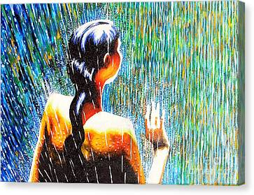 Behind The Rain Canvas Print by Jose Miguel Barrionuevo
