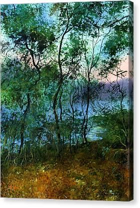 Behind The Trees Canvas Print by Sergey Zhiboedov