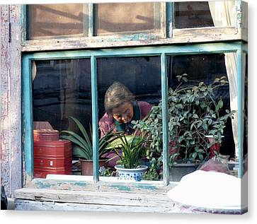 Beijing Kitchen Window Canvas Print