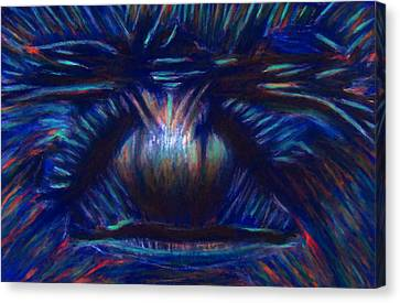 Being Blue Hurts Canvas Print by D Rogale