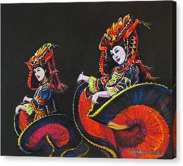 Bejing Beauties Canvas Print by Tanja Ware