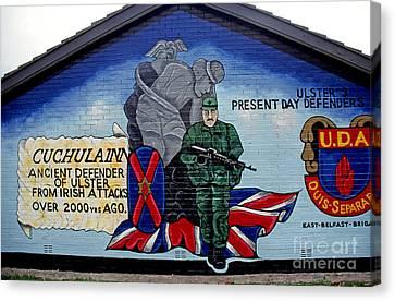 Belfast Mural Canvas Print by Thomas R Fletcher