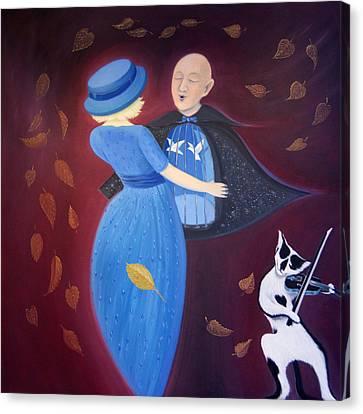 Canvas Print featuring the painting Belgian Autumn Dance by Tone Aanderaa