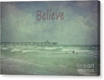 Believe Canvas Print by Judy Hall-Folde