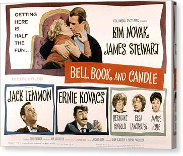 Fid Canvas Print - Bell Book And Candle, Top Kim Novak by Everett