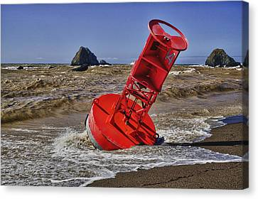 Bell Buoy Canvas Print by Garry Gay