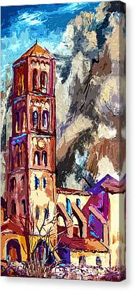 Bell Tower South Of France Canvas Print by Ginette Callaway