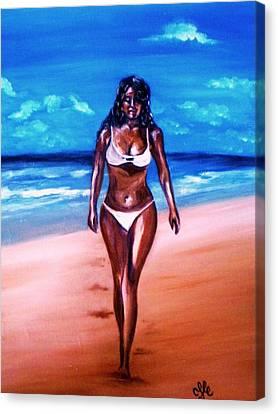 Bella Griselle In Cayo Sombrero Island Canvas Print