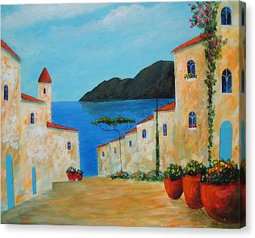Canvas Print featuring the painting Bella Italia by Larry Cirigliano