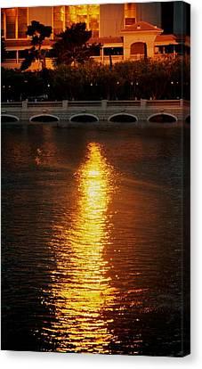 Canvas Print featuring the photograph Bellagio Sunset by Joe Urbz