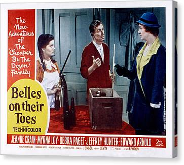 Belles On Their Toes, Lobby Card Canvas Print by Everett