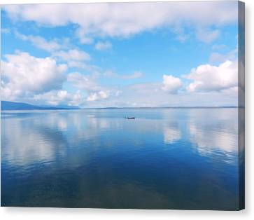 Bellingham Bay In Blue Canvas Print