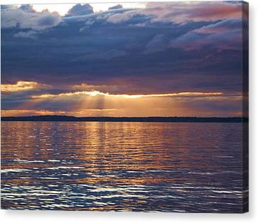 Canvas Print featuring the photograph Bellingham Bay by Karen Molenaar Terrell