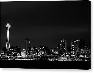 Belltown & Space Needle Canvas Print by Andrew A Smith