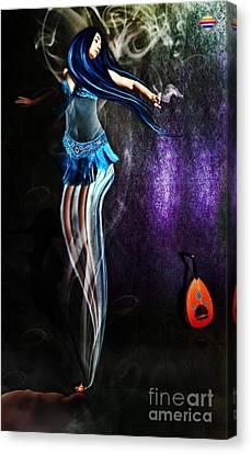 Belly Dance Genie Canvas Print by Vidka Art