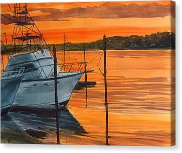 Belmar Marina Canvas Print by Pete Maier