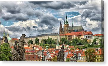 Below The Castle Canvas Print by Jason Wolters