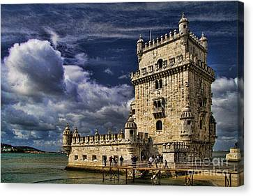 Belum Tower In Lisbon Portugal Canvas Print by David Smith