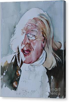 Orator Canvas Print - Ben Franklin Of Philadelphia by Peg Ott Mcguckin