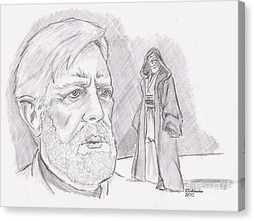 Ben Obi Wan Kenobi Canvas Print by Chris  DelVecchio